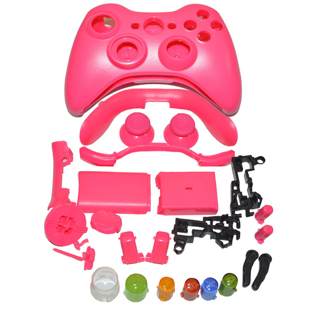 Wireless Game Controller Hard Case Gamepad Protective Shell Cover Full Set With Buttons Analog Stick For XBox 360