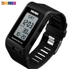 SKMEI-reloj deportivo con podómetro 3D para hombre y mujer, pulsera Digital con calorías, a la moda, resistente al agua, 1363