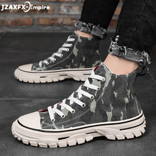 Men's Vulcanized Shoes Camouflage print Lace-up Flat Shoes For Men Top Quality mens shoes casual цена