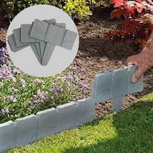 25 шт Садовый Забор pp имитация камня забор складной сплайсинга