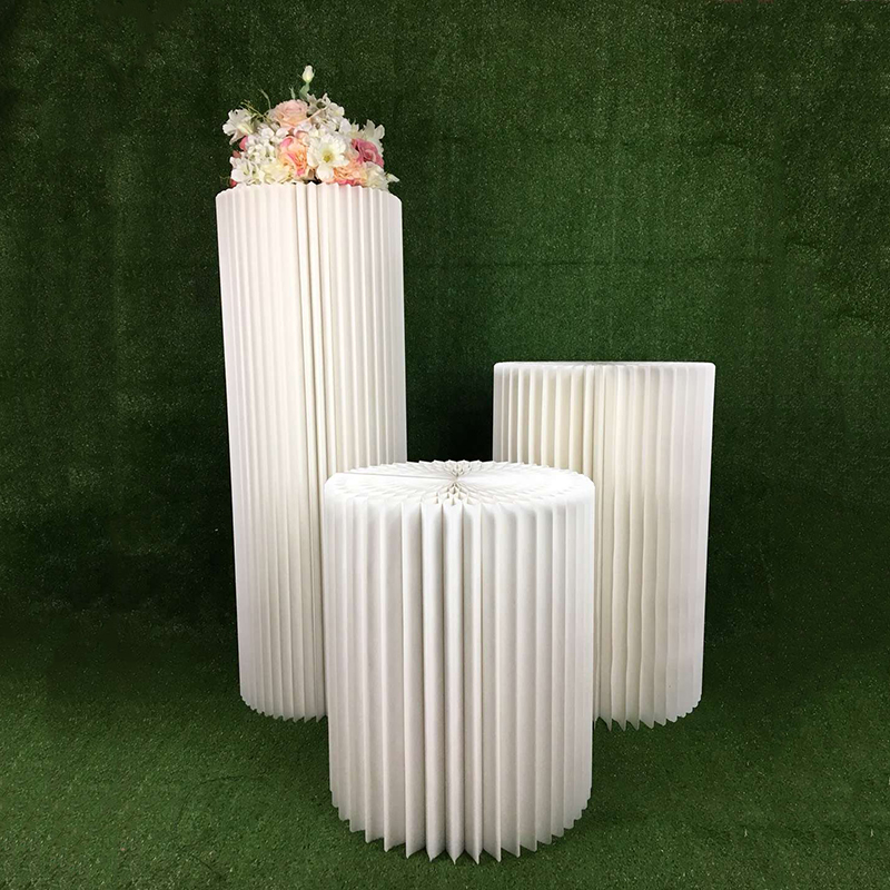 Свадебный реквизит, бумажная Складная римская колонна, дорожный дисплей, декор для свадебной вечеринки, настольная рамка, специальная крафт бумага, ремесла