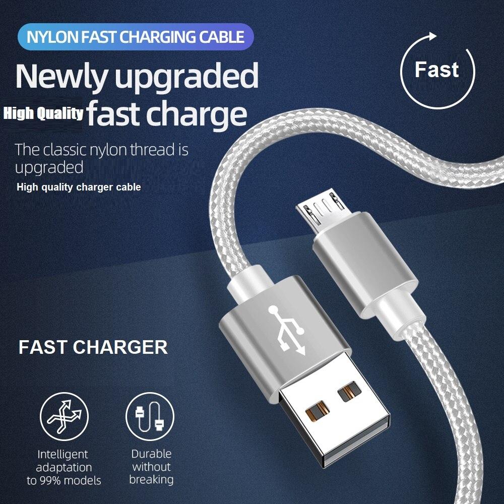 18W кабель для быстродействующего зарядного устройства из алюминиевого сплава Тип C микро нейлоновый USB Дата кабель для зарядки для Iphone, Samsung, Xiaomi, Huawei, Android мобильный телефон Кабели для мобильных телефонов      АлиЭкспресс