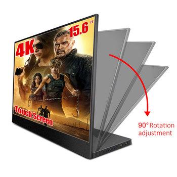 2019 najnowszy przenośny monitor 4 K 15 6 cala 3840 x2160 ultra cienki wyświetlacz IPS LCD z HDMI typ C do komputera Laptop PS4 Switch tanie i dobre opinie TOBEPICO 16 9 3840x2160
