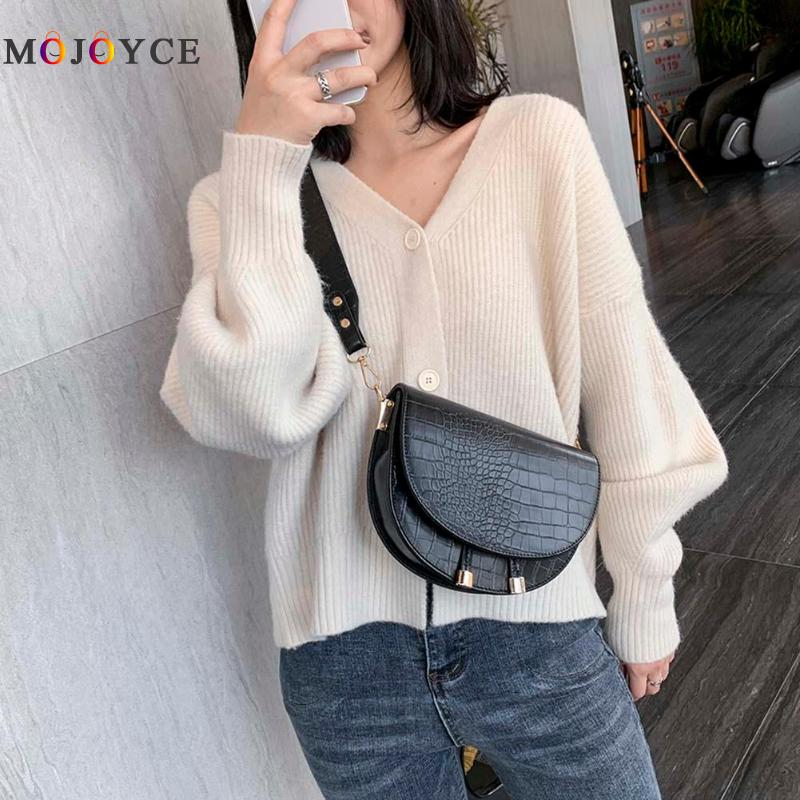 Women Messenger Bag Retro Crocodile Pattern PU Leather Crossbody Bags Small Female Handbags Torebki Damskie Business Daily, Leis