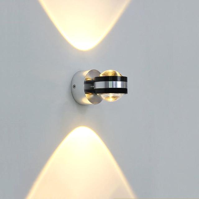6 واط LED الألومنيوم مصباح جداري LED إضاءة داخلية تركيب المصابيح الجدار مصباح ل السرير غرفة المعيشة غرفة نوم الجدار مصابيح BL6003