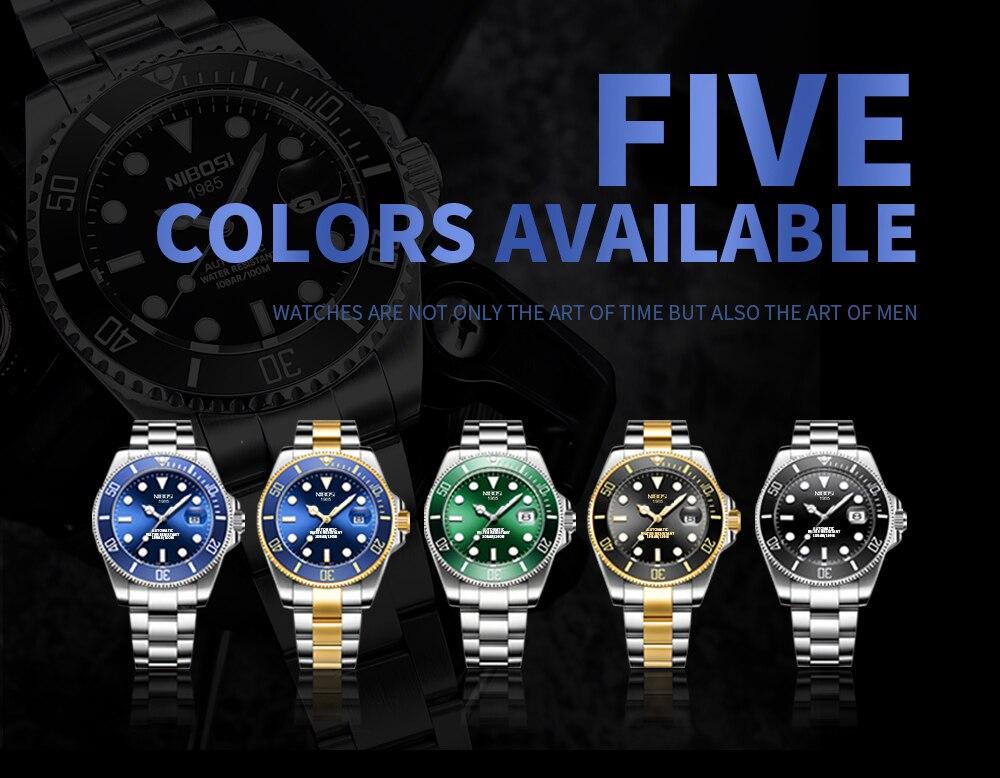 superior relógio de pulso de luxo homem