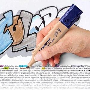 Image 3 - 8 sztuk lub 9 sztuk/zestaw STAEDTLER wyróżnienia ukośne Marker dzieci Graffiti Journal Marker uwaga długopis szkolne materiały papiernicze