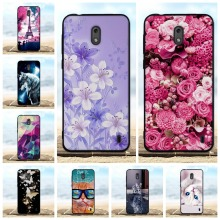 For Nokia 2 Case Cover 3D Cute Pattern Cat Black Shell Phone Cases Soft Silicone Coque Bags Fundas Nokia2 5.0