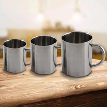 Taza portátil con mango doble pared de acero inoxidable de aislamiento taza caliente viaje Camping senderismo jarra de café tumbler taza de té