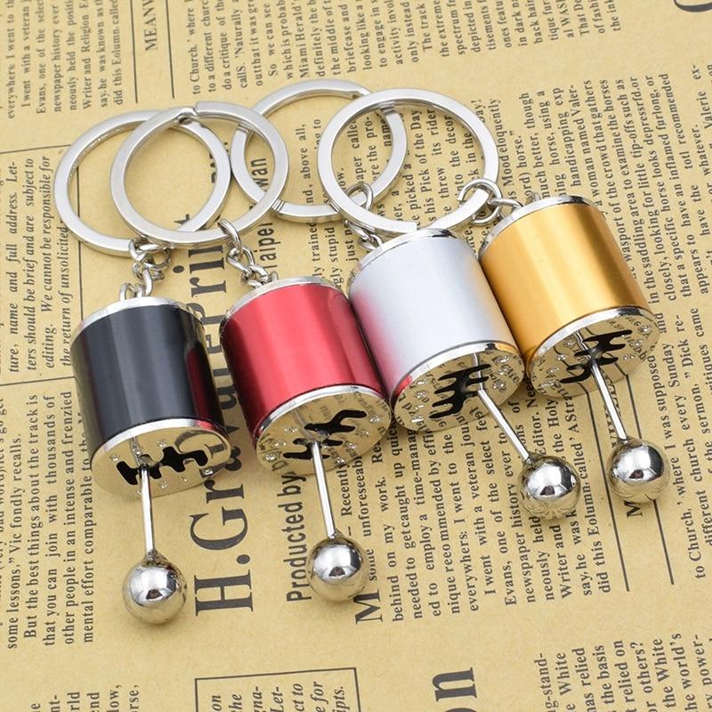 Car Gear Box Keychain For Men Women Imitation 6 Speed Manual Car-styling Keyring Gear Knob Shift Gearbox Stick Gift Souvenir New