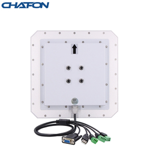 Image 2 - CHAFON lecteur rfid uhf, 10M, antenne circulaire 9dbi intégrée, prise en charge de la mise à niveau du micrologiciel pour stationnement de voiture, longue portée RS232 WG26, USB