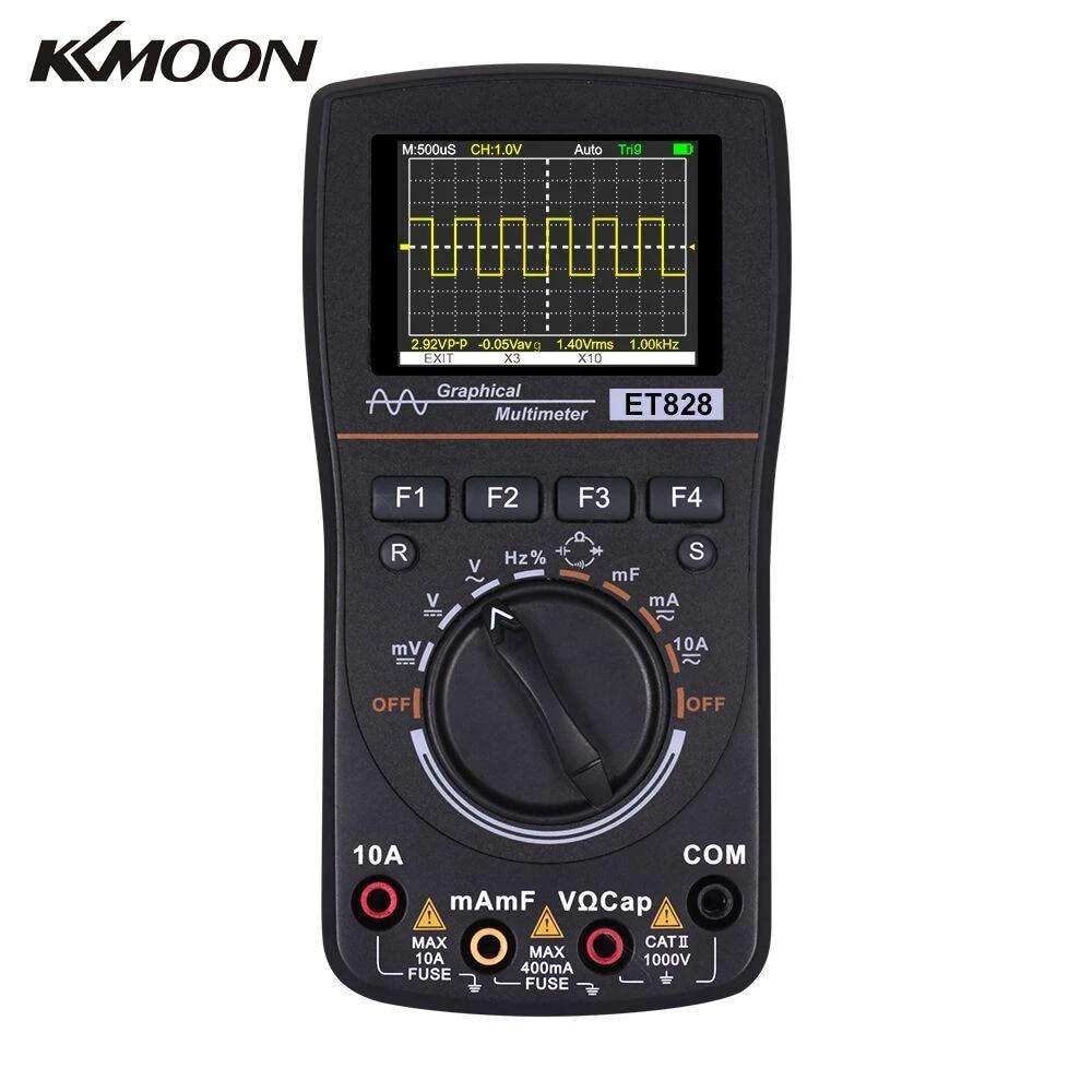 KKmoon KKM828 Grafisches Digital Oszilloskop Multimeter 2in1 1MHz 2,5Msps S8T4