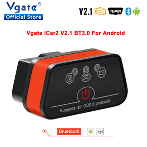 Image 1 - Vgate iCar2 ELM327 de diagnóstico del coche OBD OBD2 escáner Bluetooth Olmo 327 v2.1odb2 código OBDII lector PK elm327 V1.5 PIC18F25K80