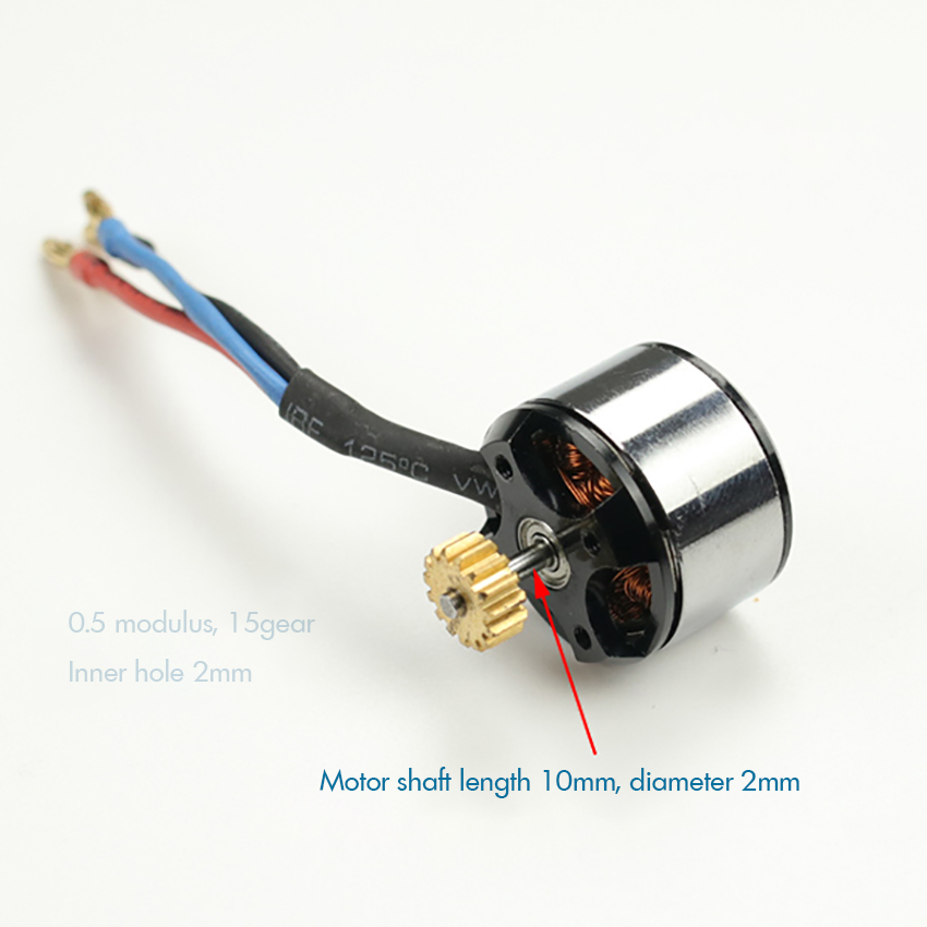 Aircraft Model A2212 Motor 3800KV Brushless Motor High Speed Motor 0.5 Modulus 15-gear Four Axis Outer Rotor For Aircraft