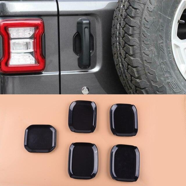 Крышка внешней двери beler, 5 шт., АБС пластик, глянцевый черный, отделка чаши, подходит для Jeep Wrangler JL 2018 2019, 4 двери