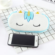 Stuffed Animals Peluche Kids Toys Stationery Pencil Case Office Supplies Soft Plush Toys Baby Toys For Children Kawaii Unicorn(China)