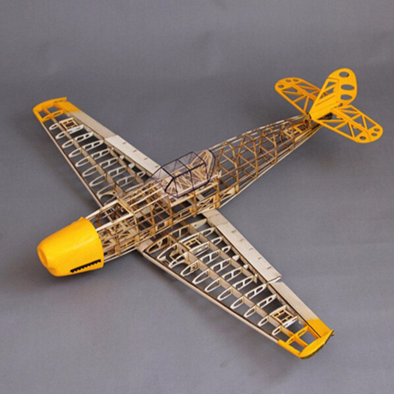 BF109 model Woodiness model plane bf 109 model RC airplane DIY BF109 model remote control plane kit image