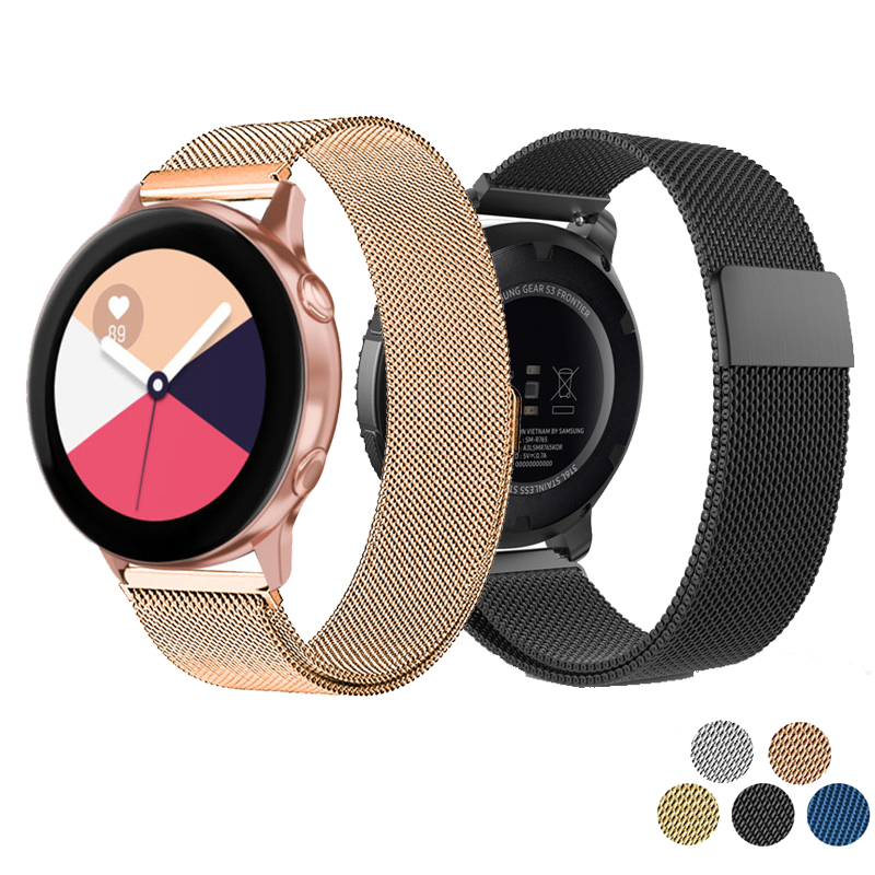 20mm Frontier Classic Strap For Samsung Galaxy Watch Active Smart Band For Samsung Gear S2 Band For Samsung Galaxy Watch 42mm