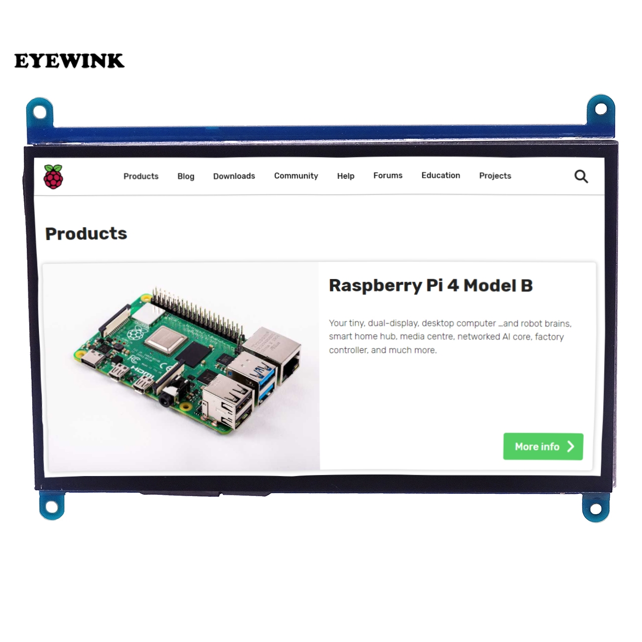 Hdmi-Interface Monitor-Module Lcd-Display Raspberry Pi 3-Touch-Screen TFT 1024--600 7inch