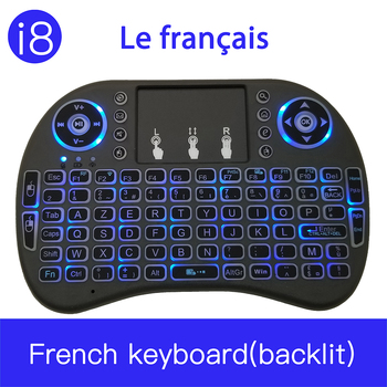 Original i8 French Version 2.4GHz Clavier français i8 Wireless Keyboard Air Mouse Touchpad Handheld for Android TV BOX Mini PC