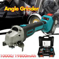 Electric Cordless Angle Grinder 88V/128V Lithium Ion Grinding Machine Cutting Electric Angle Grinder Grinding Power Tool