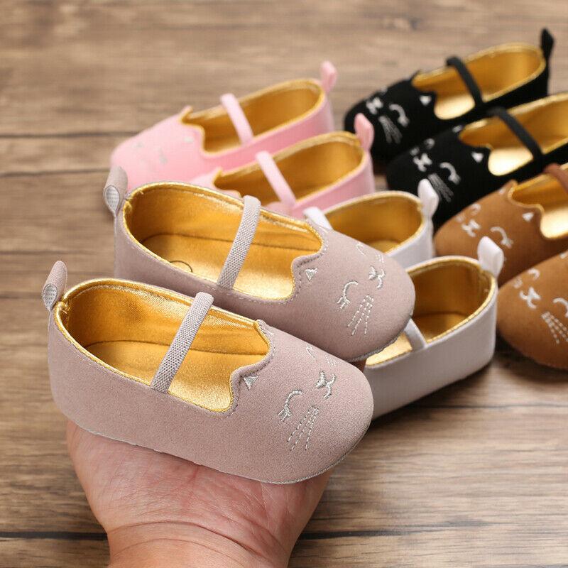 Baby Shoes Newborn Infant Pram Mary Jane Girls Princess Moccasins Soft Shoes