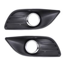 цена на L+R Side Bumper Fog Light Lamp Cover Grille Grill for Ford Focus Sedan 2009~2011