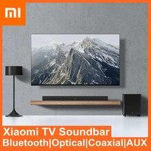 Xiaomi bluetooth alto-falante de cinema em casa bluetooth 5.0 sem fio aux óptico com fio 100w soundbar 6.5 polegada subwoofer tv sistema de som