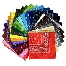 Scarves Cashew-Nut Amoeba Headband Mask Square Magic Flower Cotton 40-Colors Turban Oil-Painting