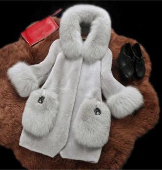 Fengguilai Fashion Fur Coat Winter Long Sleeves Long Coat Jacket  Women Faux Fur Coats Outerwear