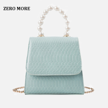 Pearl Tote bag 2019 Fashion New High Quality PU Leather Women's Designer Handbag Crocodile pattern Chain Shoulder Messenger bags european and american fashion crocodile pattern new handbag patent leather bright pu shoulder portable messenger bag 2018 new