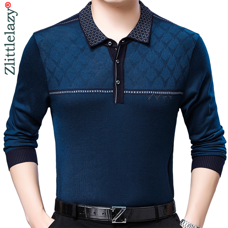 2019 Brand Casual High Quality Fitness Long Sleeve Polo Shirt Men Poloshirt Jersey Mens Polos Tee Shirts Dress Fashions 81063