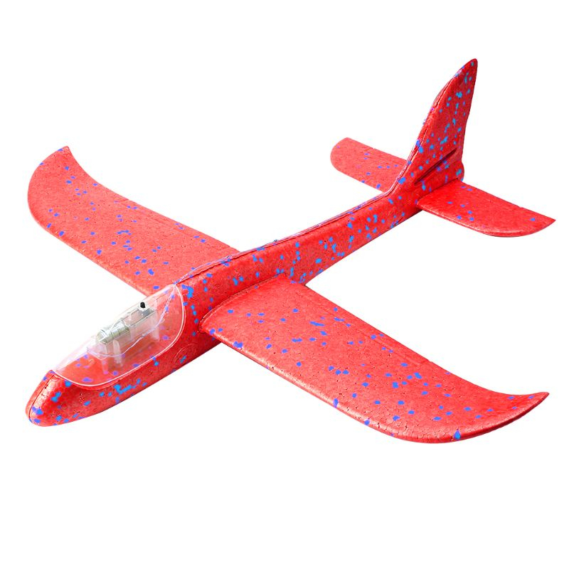 LED Night Airplane Hand Launch Throwing Glider <font><b>Aircraft</b></font> Inertial Foam Airplane Toy Plane <font><b>Model</b></font> Outdoor Educational Toys 72XC image
