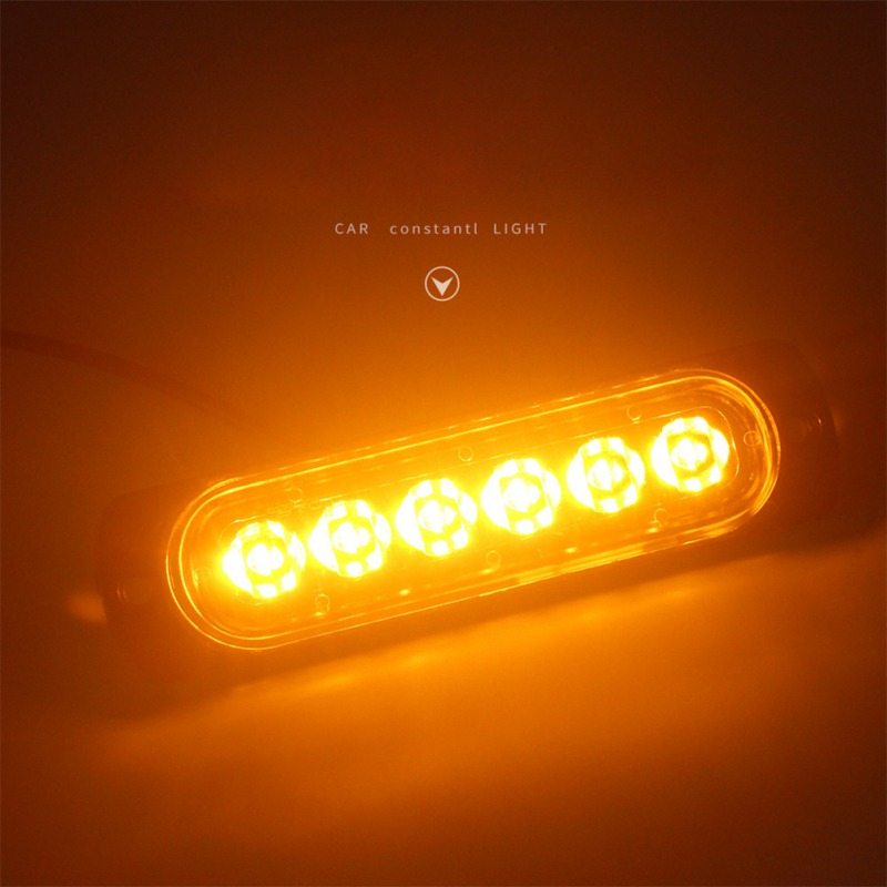 1PCS 6 LED 12V Side Indicator Light Marker Lamp For Truck Trailer White/Red/Yellow/Blue Side Marker Lights Lamp