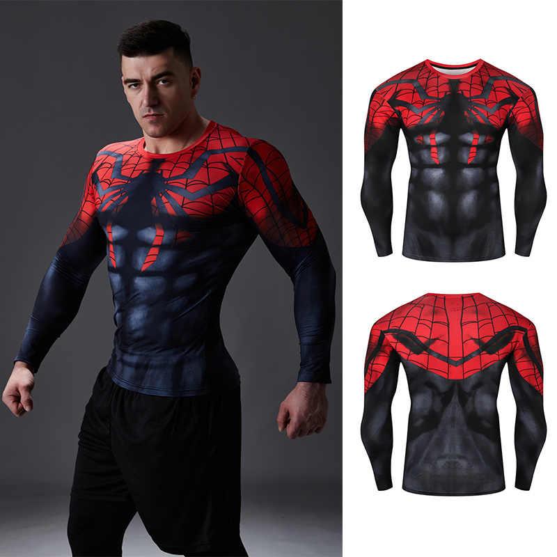 圧縮シャツワークアウトトレーニングフィットネス男性コスプレ Rashgard プラスサイズのボディービル tシャツ 3D プリントスーパーマン男性の場合トップス
