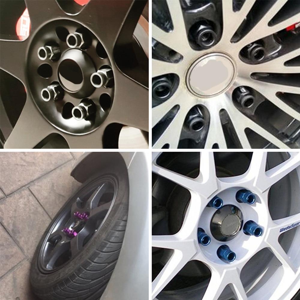 Rastp 20 peças d1 spe desempenho corrida roda lug porcas parafuso m12x1.5/1.25 comprimento 50mm alumínio universal RS-LN007-5