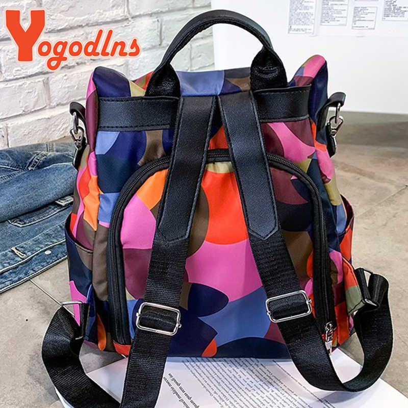Yogodlns wysokiej jakości wodoodporny Oxford kobiety plecak moda Anti-theft kobiety plecaki damskie duża pojemność Bagpack