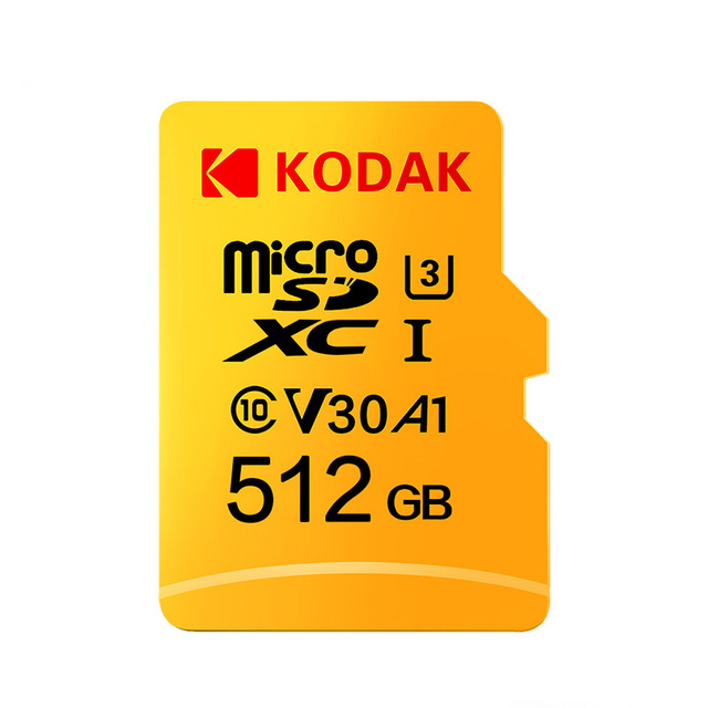 Kodak U3 V30 Class10 Micro SD Card SDXC SDHC SD Card Memory TF Flash Card 512GB 256GB For Video Storage Secure Memory Card
