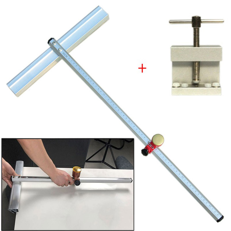 60cm Glass Tile Push Knife Cutting Tools +Glass Tile Opener Ceramic Tile Glass Cutter Roller Cutter With 5 Pcs Knife Head