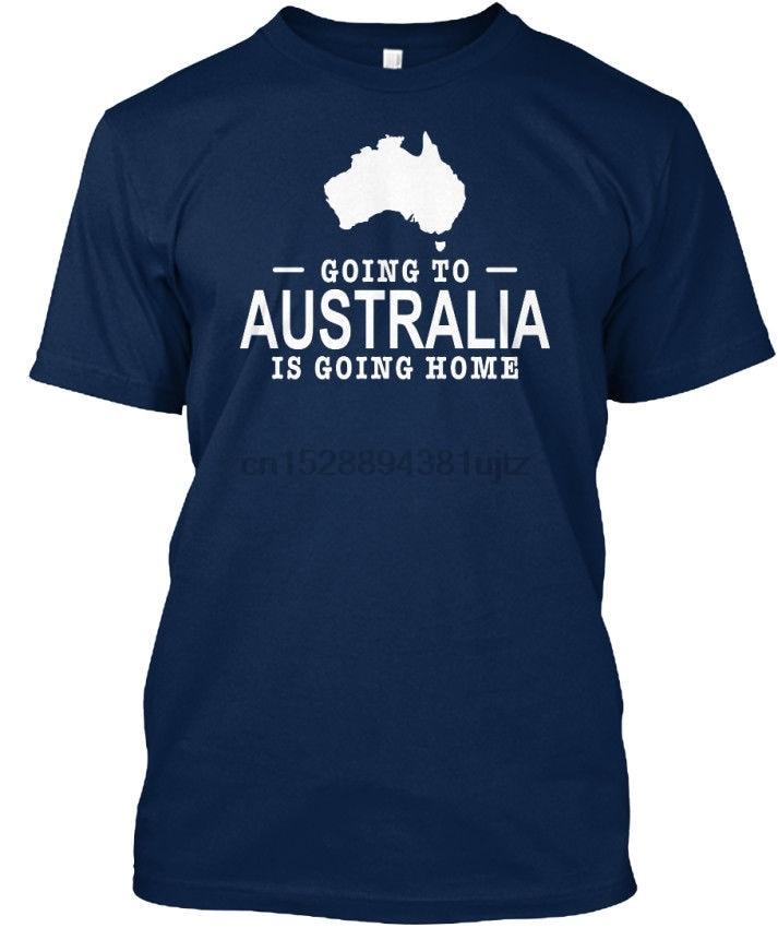 Simple Short-Sleeved Cotton T-Shirt Going To Australia Is Home - Standard Unisex T-Shirt O-Neck T Shirt Men