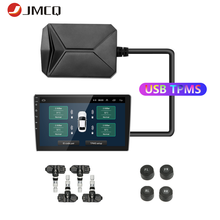 JMCQ USB Android TPMS Tire Pressure Monitoring System Display for Android Car DVD Radio Multimedia Player With 4 sensors