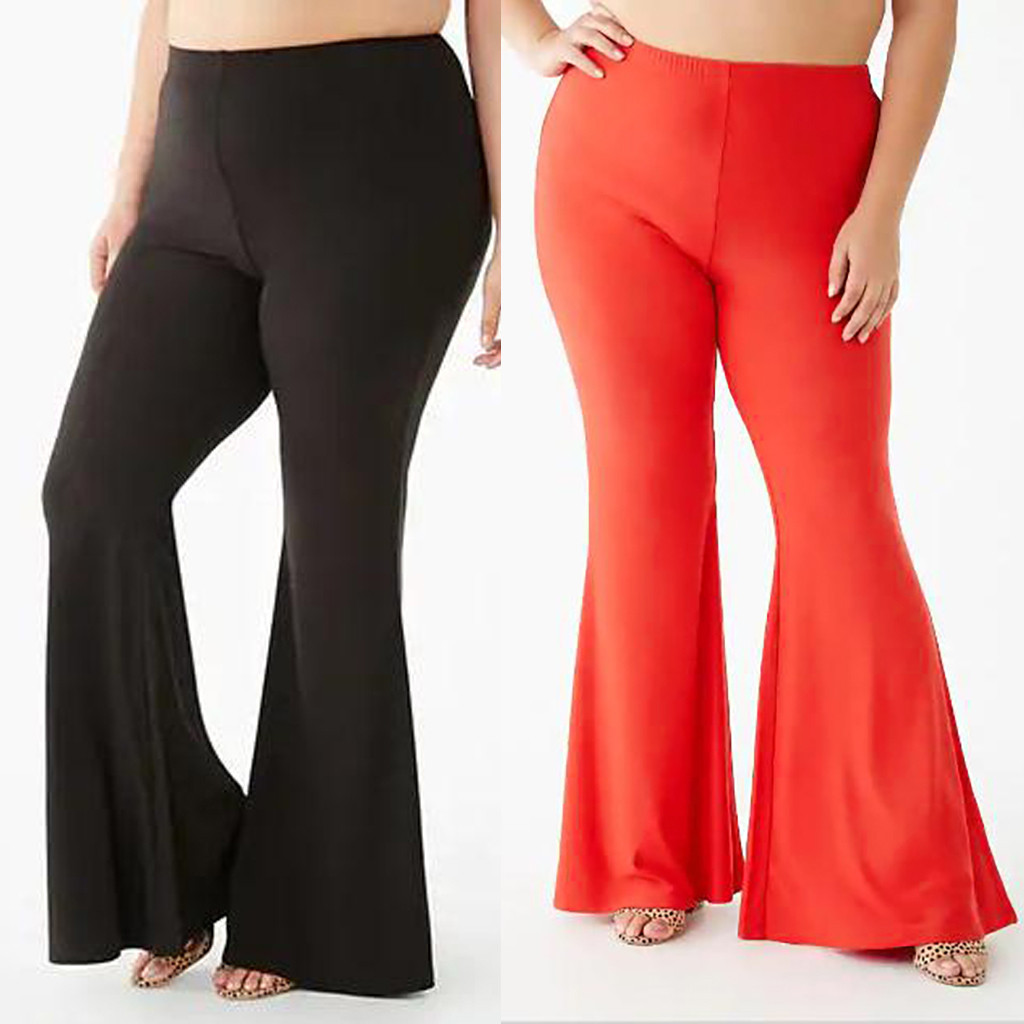 NEW Fashion Office Lady Pants Women Plus Size 3XL Solid High Waist Flares Casual Sexy Loose Leggings Pants Freeship брюки