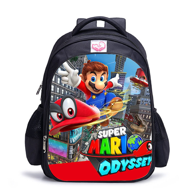 16 Inch Mario Bros Sonic Boom Backpack For Children School Bags Cartoon Game Book Backpack Daily School Backpack Gift