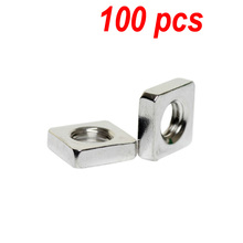 100pcs/lot THIN Nut M3 M4 M5 M6 M8 A2 STAINLESS STEEL SQUARE NUTS DIN 562