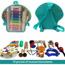 Toddler Musical Instruments-  7/19 Types Wooden Percussion Instruments Toy for Kids Preschool Educational, Musical Toys Set