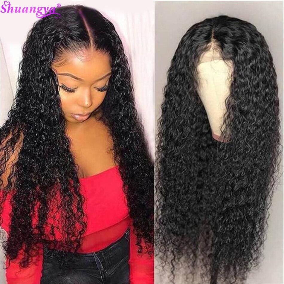 Onda de água peruca dianteira do laço 100% frente do laço peruca de cabelo humano pré arrancado peruca frontal do laço 180% onda de água peruca remy peruca de cabelo humano