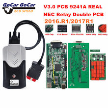 2016. r1 livre keygen bluetooth duplo pcb verde v3.0 placa nec relé real 9241a chip ftdi multidiag pro + tcs para para carro/caminhão