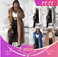 Women 2019 Autumn Winter Coat Casual Loose Solid Teddy Print Coat Female Vintage Plus Size Thick Faux Coats White 5XL