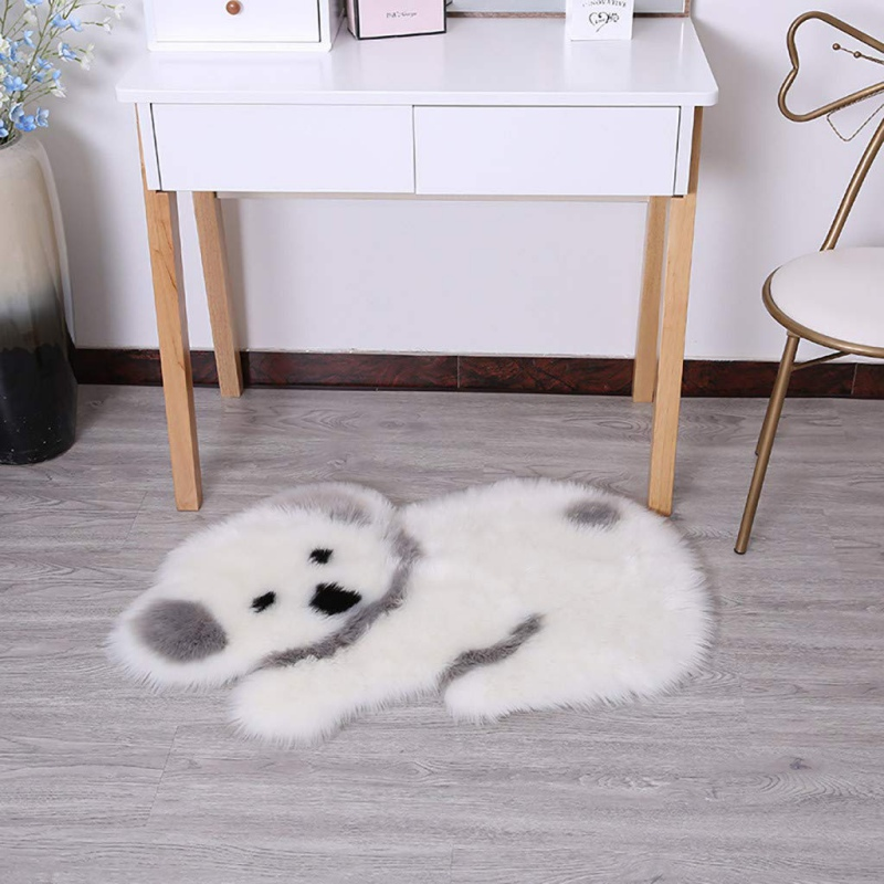 Canapé siège couverture salon Shaggy chevet zone Panda Koala forme tapis décor à la maison doux fausse fourrure peau de mouton tapis pour chambre