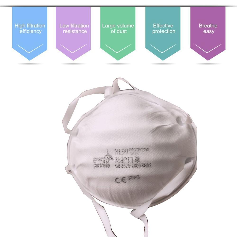FFP2/FFP3 Anti-fog Protective Mask Breathable Face Mask With Valve Dust-proof Anti-fog Mask Protective Mask High Efficiency